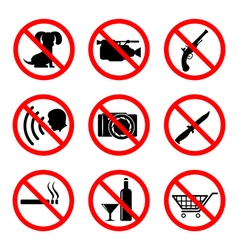 Do not icons set vector