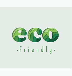 eco friendly paper concept vector image vector image