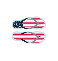 Flipflops american flag products for tourists vector