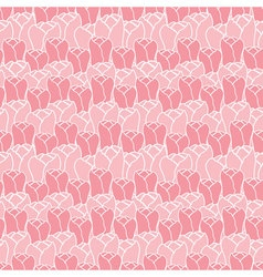 Floral pattern with tulips floral patternSeamless vector image vector image