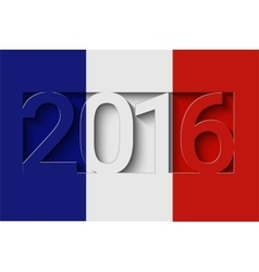 France 2016 design vector image