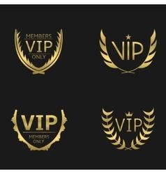 Golden vip wreaths vector