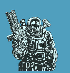 Heavy space marine vector
