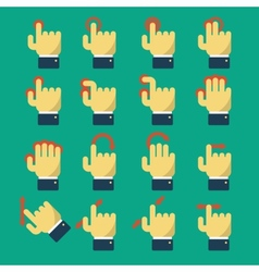 Icons with gestures vector image vector image