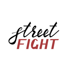 Modern brush inscription street fight vector