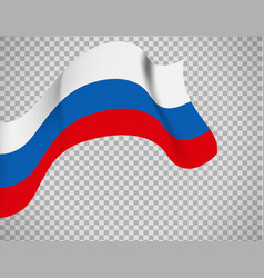 russian flag on transparent background vector image vector image