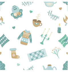 Scandinavian pattern with different elements vector