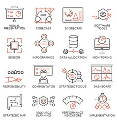 Strategy management system icons -1 vector