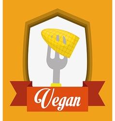 Vegan food design vector