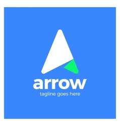 Arrow Up Letter A logo vector image