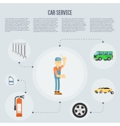 Car shop infographics vector