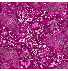 Seamless vinous valentine pattern vector