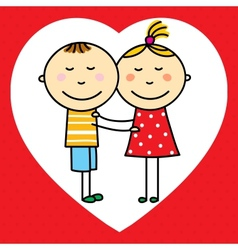 Children in love vector image