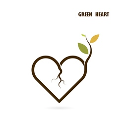 Heart sign and small tree vector
