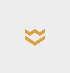 crown arrow shield premium logo luxury vector image