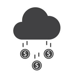 Money rain icon vector