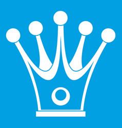 Crown icon white vector