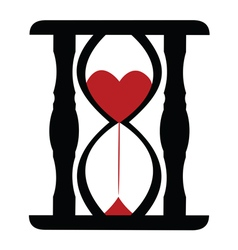 Hearts in sand clock vector