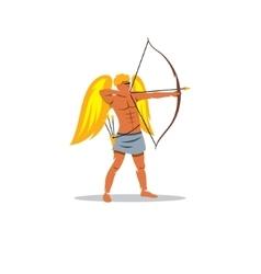 Eros sign The Mythological Greek god of love vector image