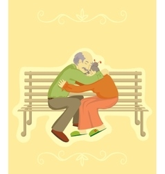 Grandparents day design element vector