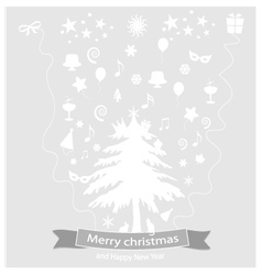 Icon christmas and happy new year vector