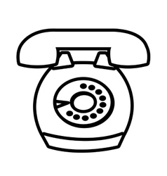 Antique telephone with round buttons vector