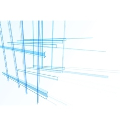 Abstract building from the lines vector image