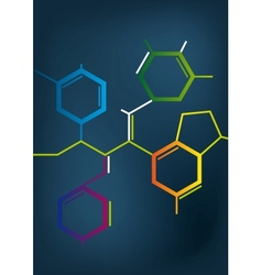 Abstract Chemical formula vector image