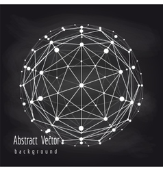 Abstract connect globe on chalkboard vector