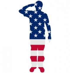 American salute vector