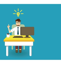 An innovation idea of employee vector image vector image