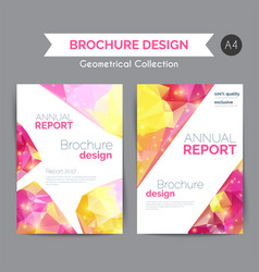 annual report template modern flyer with vector image