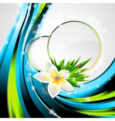background design on a spring vector image