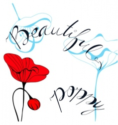 beautiful poppy vector image vector image