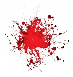 blood splat splat vector image