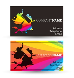 Business card painting vector