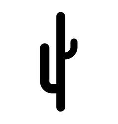 Cactus black color icon vector