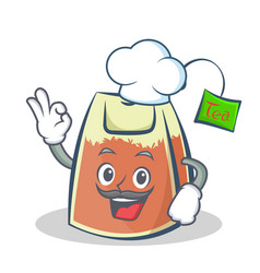 Chef tea bag character cartoon vector