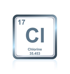 Chemical element chlorine from the periodic table vector