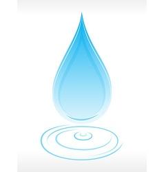 Clean water droplet vector image