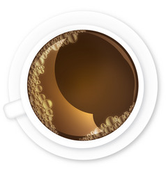 coffee with teacup bubbles vector image vector image