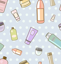 cosmetics pattern vector image