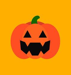 flat icon stylish background halloween pumpkin vector image vector image