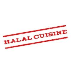 Halal cuisine watermark stamp vector