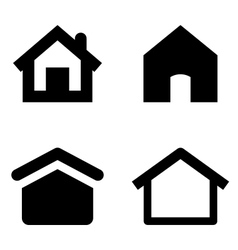 Home icons vector image vector image