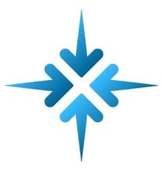 Impact arrows gradient icon vector