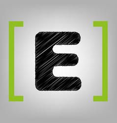 letter e sign design template element vector image vector image