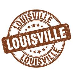 Louisville brown grunge round vintage rubber stamp vector