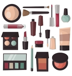 Makeup tools isolated vector