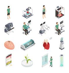 Medicine future technology icons vector